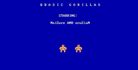 Decoded: QBasic Gorillas – MaiZure's Projects